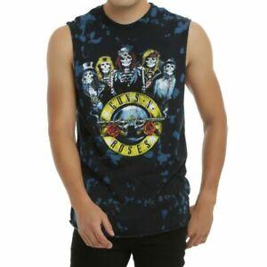 Guns N' Roses SKELETONS LOGO TIE DYE Muscle Tee Tank Top T-Shirt NEW Licensed