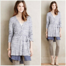 ANTHROPOLOGIE DOLAN BLUE LONG CARDIGAN DRESS - SIZE S