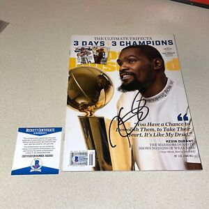 KEVIN DURANT signed autographed SPORTS ILLUSTRATED MAGAZINE BECKETT BAS AA23010