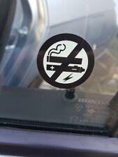 8 X Clear no fumar Pegatinas ver ambos lados sobre el vidrio signo de la etiqueta engomada