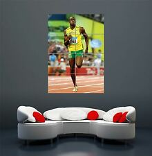 USAIN BOLT FASTEST MAN EARTH JAMAICA GIANT POSTER ART PRINT X2917