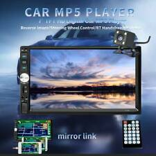 7' Inch 2Din Touch Screen Car Mp5 Player Bluetooth Stereo Radio Hd Rear Camera (Fits: Commercial Chassis)