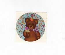 New listing Vintage Ehm Teddy Bear Eating an Ice Cream Cone at a Party Sticker