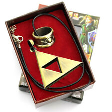 The Legend of Zelda Triforce Necklace And Ring Set