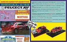 ANEXO DECAL 1/43 PEUGEOT 307 WRC DANIEL CARLSSON SWEDISH RALLYE 2005 (01)