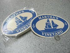 Martha's Vineyard MA Ship bumper sticker decal