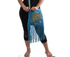 Boho shoulder bag - bohemian chic hippy bag - cotton - women