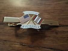 U.S MILITARY AFGHANISTAN VETERAN TIE BAR OR TIE TAC CLIP ON TYPE U.S.A MADE