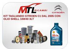 KIT TAGLIANDO CITROEN C1 DAL 2005 CON OLIO TOTAL 10W40 3LT