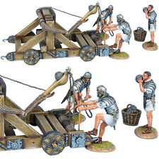 ROM181 Roman Onager with 3 Crew - White Tunics by First Legion