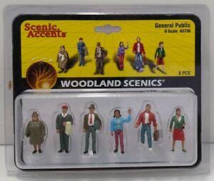 Woodland Scenics A2730 O Scale General Public Figures  (Set of 6)