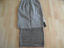 NOOK Leinen / Strickkombination Rock + Top Lagenlook beige onesize w.NEU  06-13
