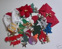 50 x CHRISTMAS Card Making Embellishments including die-cuts for Paper Crafts