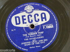 78rpm THE STARGAZERS - JOHNNY GRAY the tender trap / when swallows say goodbye