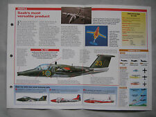 Aircraft of the World Card 82 , Group 5 - Saab 105