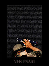 MILITARY ART PRINT - Vietnam Memory Wall by Peter Marlow 32x24 Photo Poster
