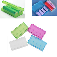NEW 18650 CR123A 16340 Hard Plastic Transparent Battery Case Box Holder Storage