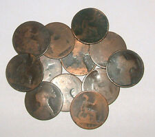 Great Britain/UK 1860-1894 Queen Victoria Bronze Bun-Pennies - Select the Date