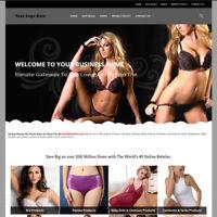 Advance Lingerie Store Website Business For Sale! Million Item Make Money Fast!