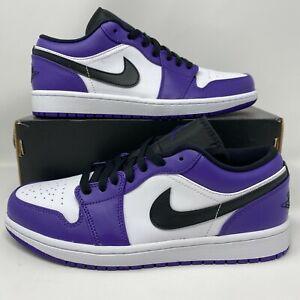 Nike Air Jordan 1 Retro Low COURT PURPLE WHITE BLACK TOE HIGH MID 553558-500 Men