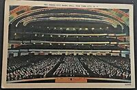 Radio City Music Hall New York City Vintage Postcard D104