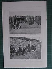 1917 WWI WW1 PRINT GERMAN & BULGARIAN PRISONERS INTERNMENT CAMP SERBIAN CHILDREN
