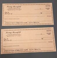 AMERICAN HUSTLE - Irving Rosenfeld's (Christian Bale) Blank Checks - Movie Prop
