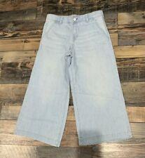 NWT Gymboree Girls Denim Cropped Wide Legged Jeans Size 7