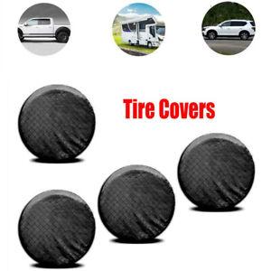 "4PCS Tire Covers for Trailer Camper Vinyl Wheel Cover Sun Rain Protector 26-27"""