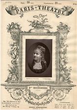 Lemercier, Paris-Théâtre, Suzanne Reichenberg (1853-1924), actrice Vintage album