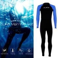 Men Neoprene Diving Suit Full Body Scuba Wetsuit Surf Swimming Jumpsuit  Anti-UV