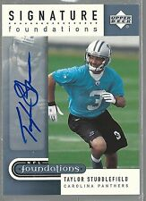 2005 Upper Deck Foundations Signature Silver #SFTS Taylor Stubblefield