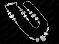 Silver Chain Long Necklace Turkish Ottoman Ethnic Tribal Boho Women