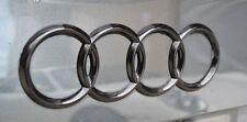 Audi A6 S6 RS6 Gloss Black 3D Boot Logo/Rings/Badge/Emblem 180mm x 60mm