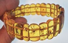 Exclusive genuine Baltic amber bracelet with fossils insects in every bead