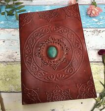 XL EMBOSSED LEATHER JOURNAL-  Leather Notebook - Diary - Journal- Sketchbook