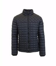 Mens Puffer Jacket Check Quilted Coat Outerwear Zip Up Warm Water Resistant NWT