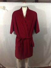 Royalcama Vintage 60'S 70'S Mens Robe SMOKING JACKET RED VELOUR MINT HEFFNER