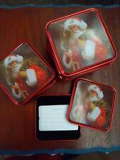 Free Shipping-Set Of 10 Holiday Gift Card Tins