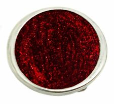 Red Glitter Belt Buckle Off Circular Oval Design Authentic Dragon Designs