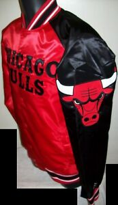 CHICAGO BULLS STARTER Snap Down Jacket Sping/Summer RED/BLACK