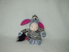"""EEYORE 9"""" winnie pooh Disney bean bag figure toy in ZEBRA Pajamas"""