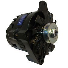 LActrical NEW BLACK HIGH OUTPUT ALTERNATOR FITS CHEVY GM 200 AMP 1-WIRE 65-85
