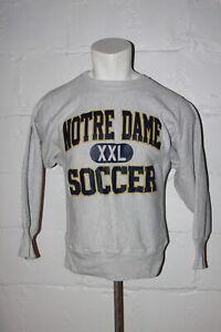 VTG Champion Reverse Weave Notre Dame Fighting Irish Soccer Crewneck Sweatshirt