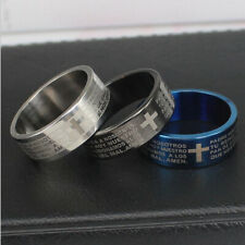 Stainless Steel Cross Ring Polished Comfort Fit Men's & Women's Wedding Band