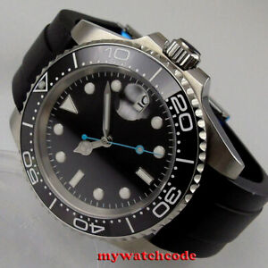 40mm bliger black sterile dial ceramic bezel NH35A miyota Automatic mens Watch