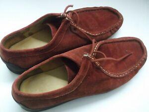 Damenschuhe Clarks Loafers Bordeaux Rot Wildleder Gr 42 / UK 8