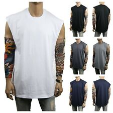 MEN HEAVY WEIGHT Muscle T-SHIRT Tank Top Sport Fitness Gym Bodybuilding Hipster