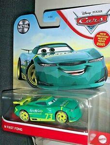 DISNEY PIXAR CARS MATTEL NEW FOR 2021 #73 REV-N-GO GREEN M FAST FONG NEW! HTF!