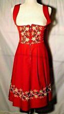 Vtg. Licht Trachtenhaus Women's Embroidered German Dirndl Dress Size 8